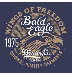 Eagle print 003 vector image vector image