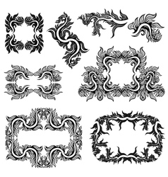 frames collection vector image vector image