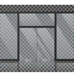 Glass store facade vector image vector image