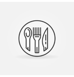 Spoon fork and knife icon vector image
