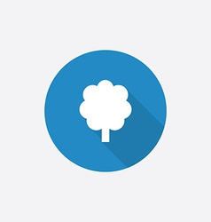 tree Flat Blue Simple Icon with long shadow vector image vector image