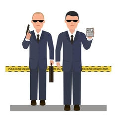 Two security agents vector image vector image