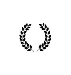 wreath reward on white background vector image vector image