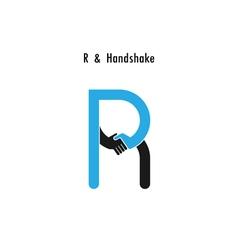Creative R- letter icon abstract logo design vector image vector image