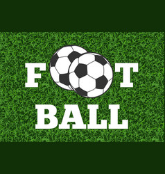 football and ball green grass field vector image vector image