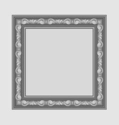 gray square frame vector image vector image