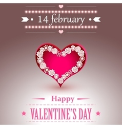 Happy Valentines Day lettering Greeting Card vector image vector image