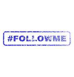 hashtag followme rubber stamp vector image vector image