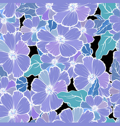 seamless pattern with colorful flowers vector image vector image