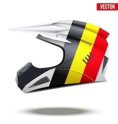 Belgium Flag on Motorcycle Helmets vector image vector image