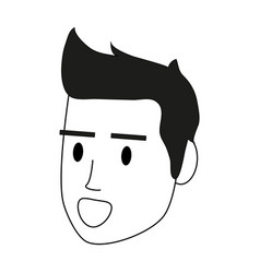 color silhouette image cartoon side view face man vector image vector image
