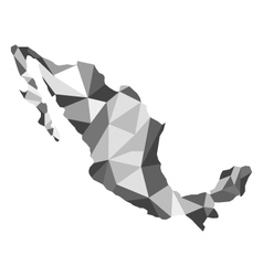 map Mexico vector image