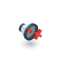 speaker mute isometric flat icon 3d vector image