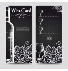 Wine card menu flyers template vector image vector image