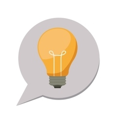 3d silhouette dialog with light bulb inside vector