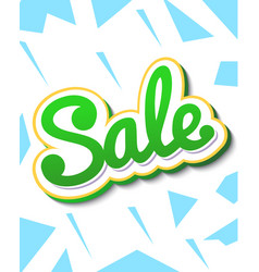 a color banner for advertising sales bright vector image