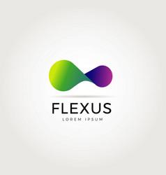 abstract flexible logo symbol icon vector image