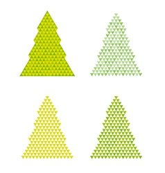 abstract trees with reversed triangle on the top vector image