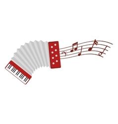 accordion instrument isolated icon vector image