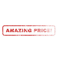amazing price exclamation rubber stamp vector image