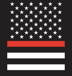 american thin line flag vector image