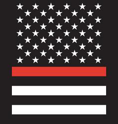american thin line flag vector image