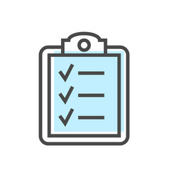 Artificial intelligence icon with checklist symbol vector