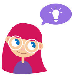 batan girl and idea vector image