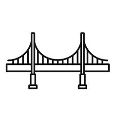 big metal bridge icon outline style vector image