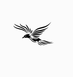 Bird tribal vector