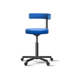 Blue dental chair vector