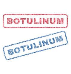 botulinum textile stamps vector image