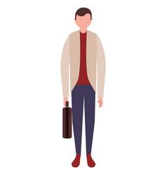 businessman character standing figure vector image