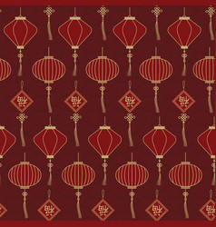 chinese traditional lanterns seamless pattern vector image