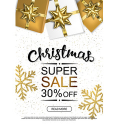 christmas sale design template poster vector image