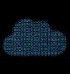 cloud composition icon of halftone bubbles vector image