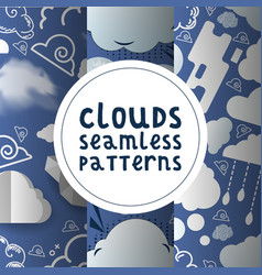 clouds seamless pattern cloudy backdrop and vector image