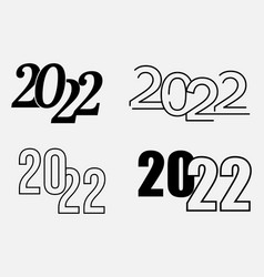 Collection 2021 happy new year text design vector