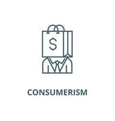 Consumerism line icon consumerism outline vector
