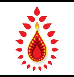 creative happy diwali greeting design vector image