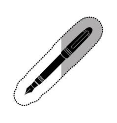 dark figure ballpoint icon vector image