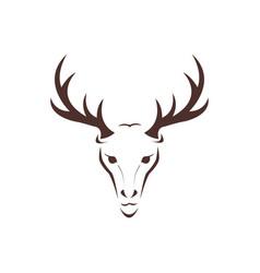 deer head wild animal design vector image