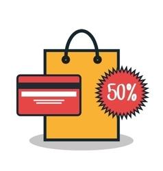 E-commerce buy online credit card design vector