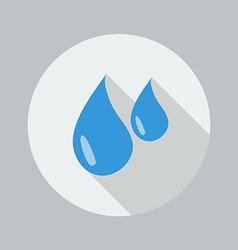 Eco Flat Icon Water Drop vector
