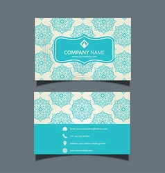 Elegant business card design 2906 vector