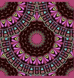 ethnic greek mandalas seamless pattern ornamental vector image