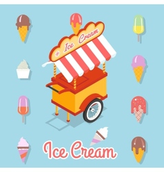 Flat ice cream vector