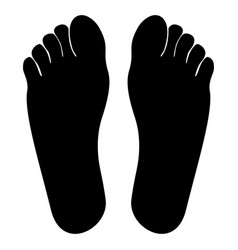 footprint heel black color icon vector image