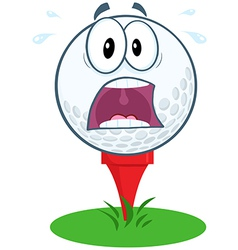 Funny golf ball expressions vector