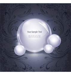 Glowing orb vector
